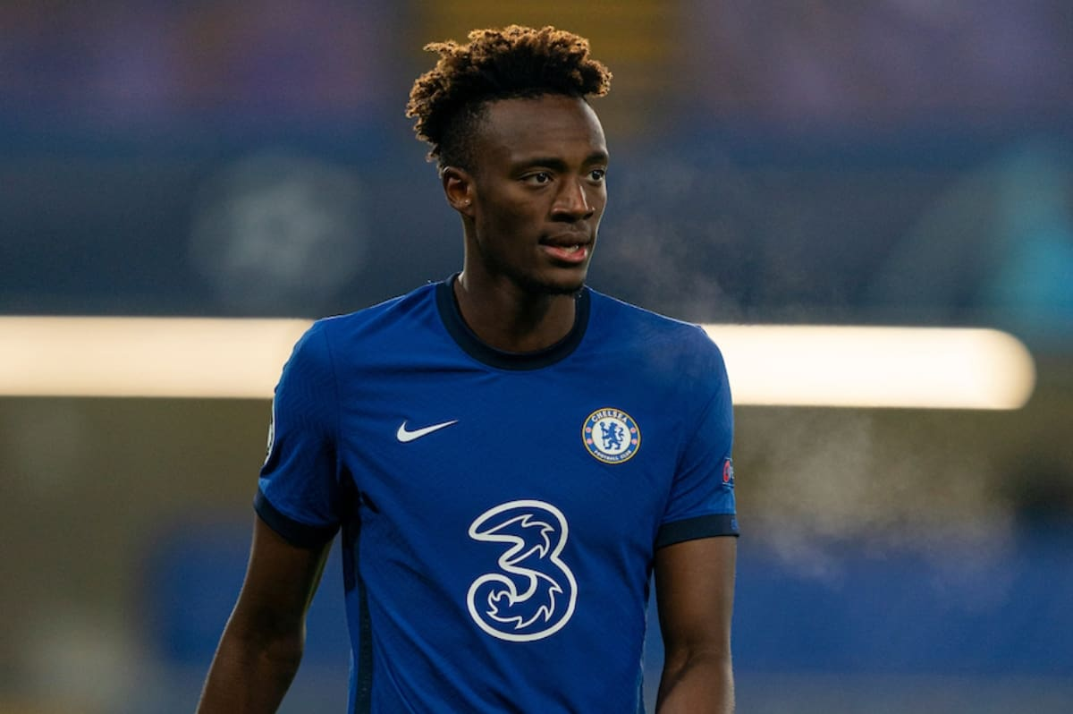 LONDON, ENGLAND - Wednesday, November 4, 2020: Chelsea's Tammy Abraham during the UEFA Champions League Group E match between Chelsea FC and Rennes FC at Stamford Bridge. Chelsea won 3-0. (Pic by David Rawcliffe/Propaganda)