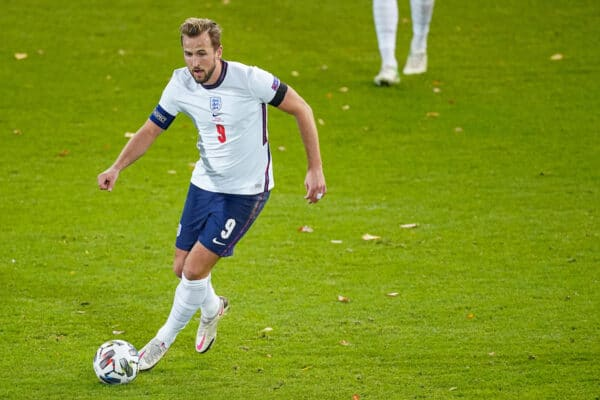 LEUVEN, BELGIUM - Sunday, November 15, 2020: England's captain Harry Kane during the UEFA Nations League Group Stage League A Group 2 match between England and Belgium at Den Dreef. (Pic by Jeroen Meuwsen/Orange Pictures via Propaganda)