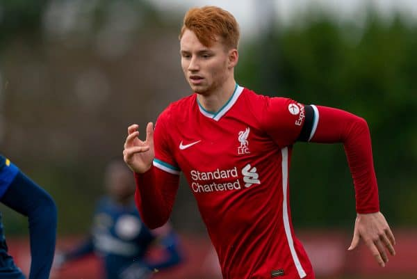 KIRKBY, ENGLAND - Saturday, November 21, 2020: Liverpool's Sepp Van Den Berg during the Premier League 2 Division 1 match between Liverpool FC Under-23's and Southampton FC Under-23's at the Liverpool Academy. The game ended in a goalless draw. (Pic by David Rawcliffe/Propaganda)