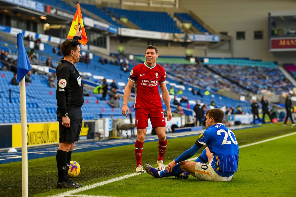 KIRKBY, ENGLAND - Saturday, November 28, 2020: Liverpool's James Milner during the Premier League 2 Division 1 match between Liverpool FC Under-23's and Manchester City FC Under-23's at the Liverpool Academy. (Pic by David Rawcliffe/Propaganda)