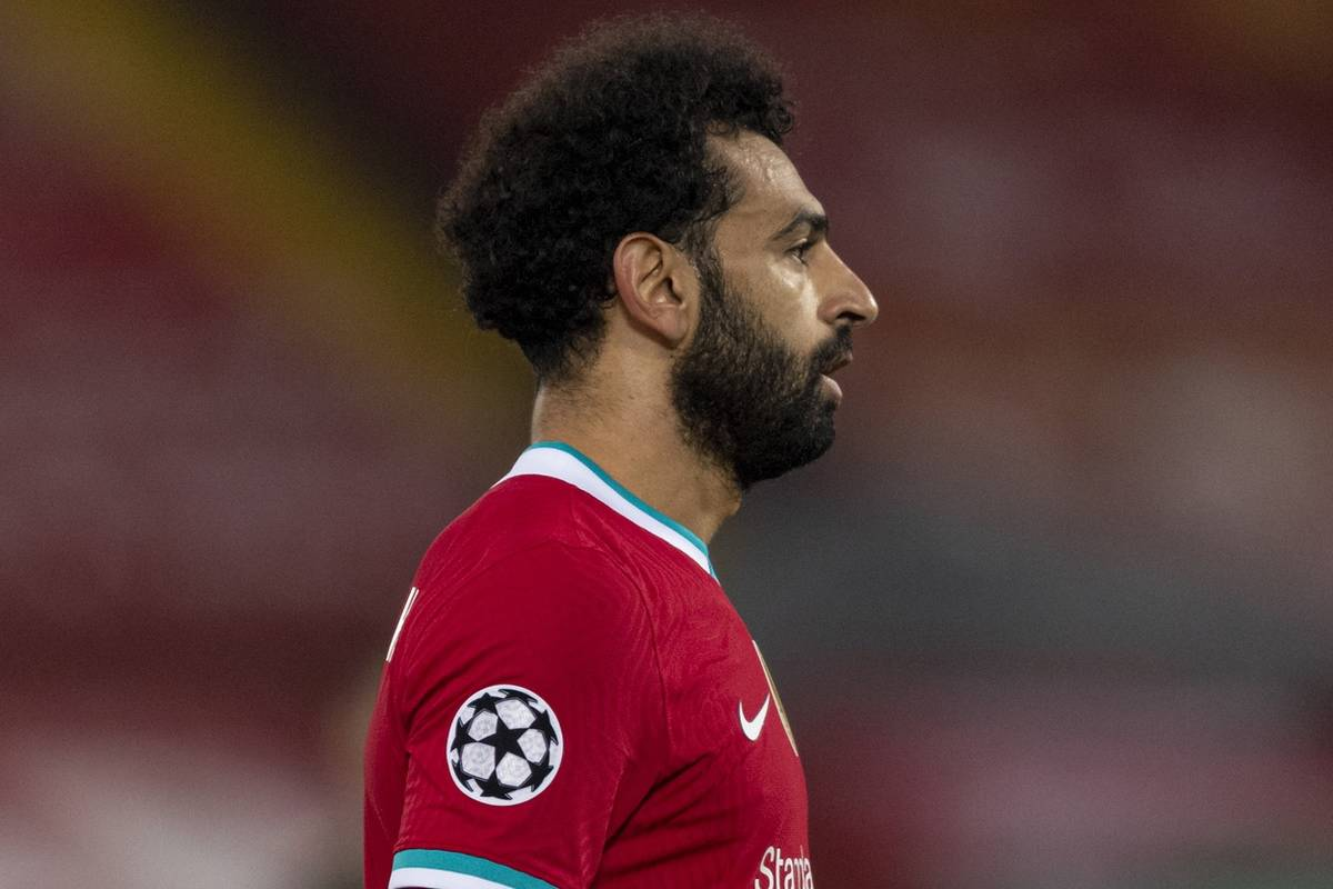 LIVERPOOL, ENGLAND - Tuesday, December 1, 2020: Liverpool's Mohamed Salah during the UEFA Champions League Group D match between Liverpool FC and AFC Ajax at Anfield. Liverpool won 1-0 to win the group and progress to the Round of 16. (Pic by Paul Greenwood/Propaganda)