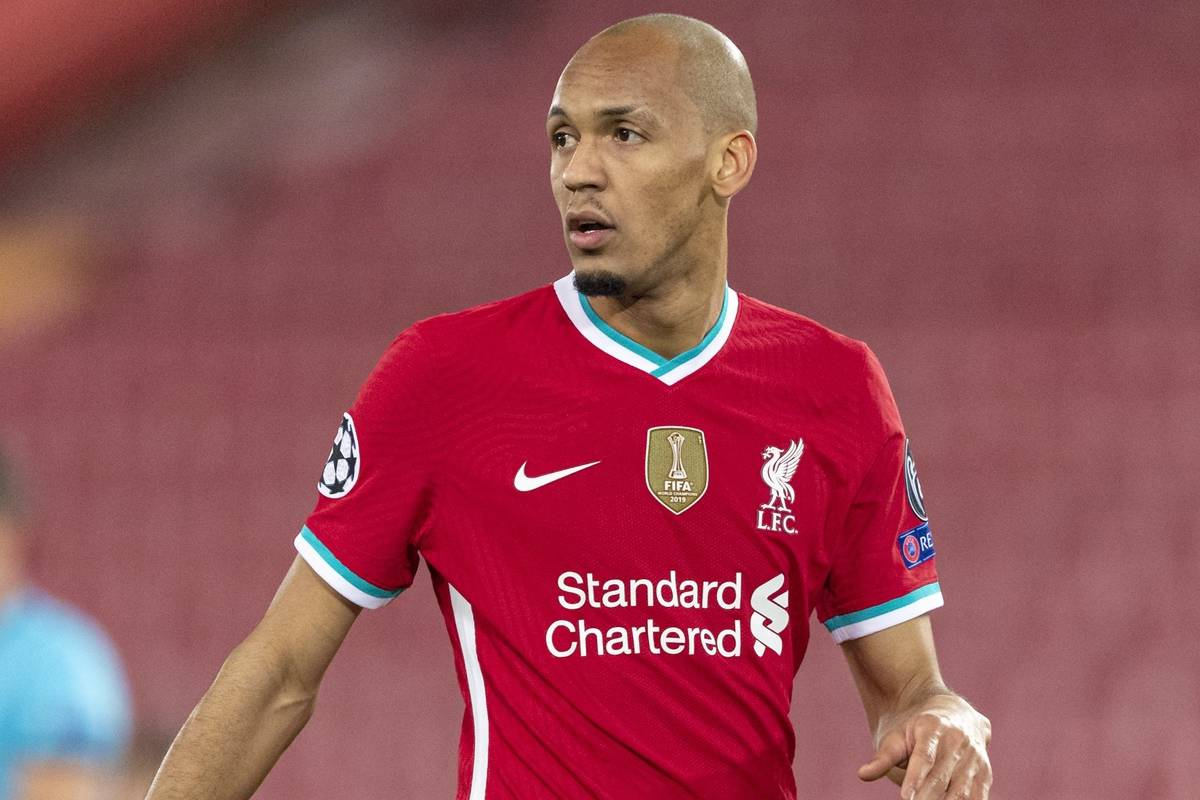 LIVERPOOL, ENGLAND - Tuesday, December 1, 2020: Liverpool's Fabio Henrique Tavares 'Fabinho' during the UEFA Champions League Group D match between Liverpool FC and AFC Ajax at Anfield. Liverpool won 1-0 to win the group and progress to the Round of 16. (Pic by Paul Greenwood/Propaganda)
