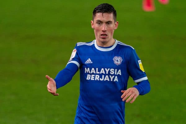 STOKE-ON-TRENT, ENGLAND - Tuesday, December 8, 2020: Cardiff City's Harry Wilson during the Football League Championship match between Stoke City FC and Cardiff City FC at the Bet365 Stadium. Cardiff City won 2-1. (Pic by David Rawcliffe/Propaganda)