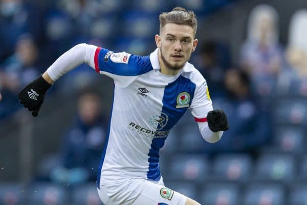BLACKBURN, ENGLAND - Saturday, January 16, 2021: Blackburn Rovers' Harvey Elliott during the Football League Championship match between Blackburn Rovers FC and Stoke City FC at Ewood Park. The game ended in a 1-1 draw. (Pic by David Rawcliffe/Propaganda)