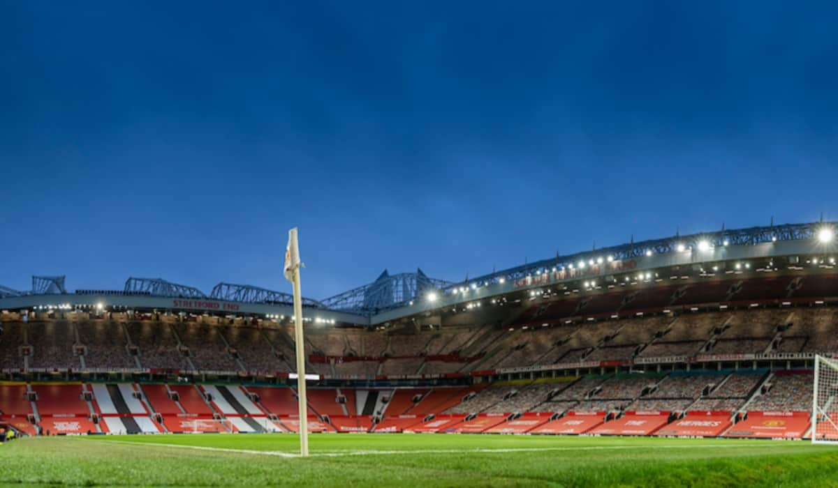 LIVERPOOL, ENGLAND - Sunday, January 24, 2021: A general view before the FA Cup 4th Round match between Manchester United FC and Liverpool FC at Old Trafford. (Pic by David Rawcliffe/Propaganda)