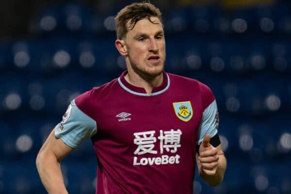 BURNLEY, ENGLAND - Wednesday, March 3, 2021: Burnley's Chris Wood during the FA Premier League match between Burnley FC and Leicester City FC at Turf Moor. The game ended in a 1-1 draw. (Pic by David Rawcliffe/Propaganda)
