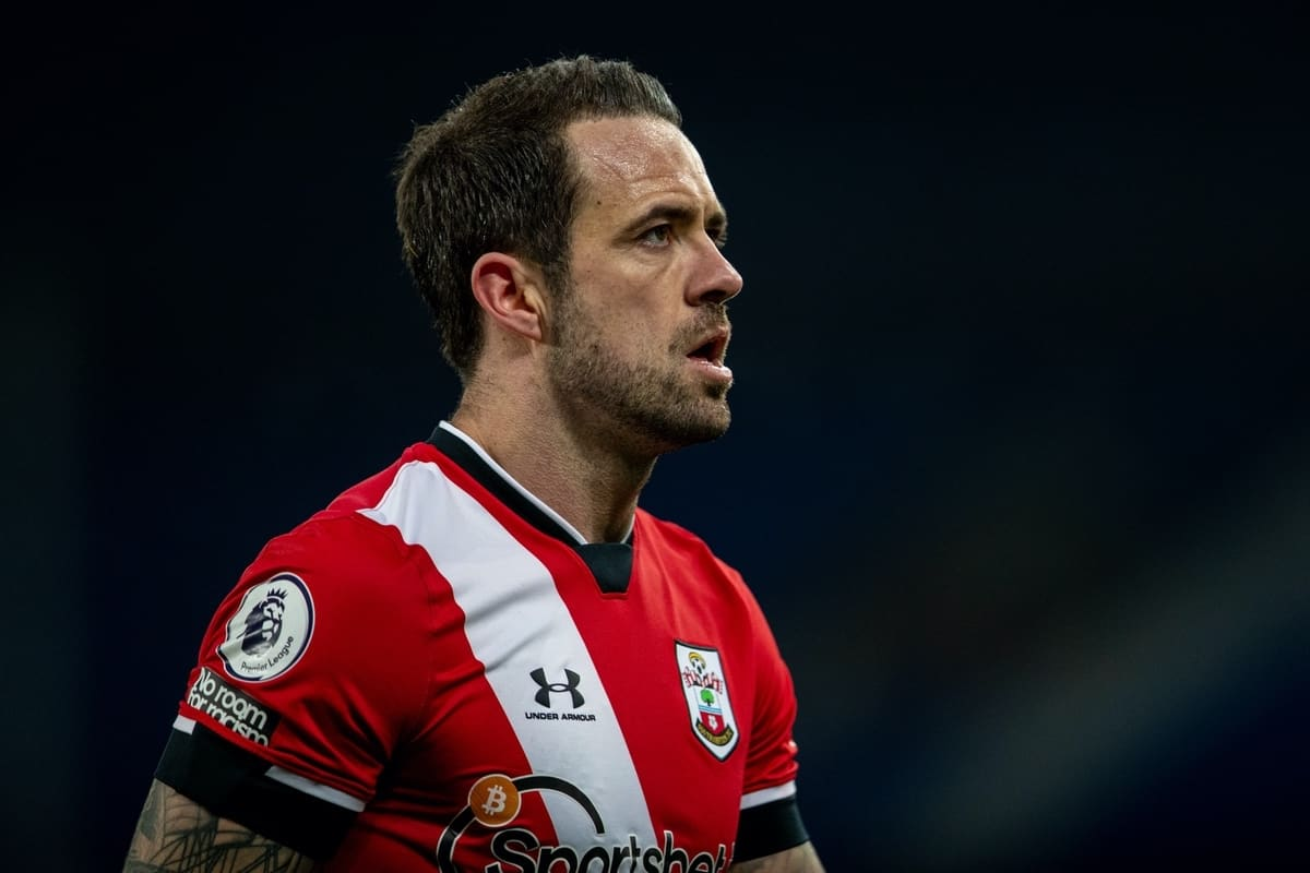 LIVERPOOL, ENGLAND - Monday, March 1, 2021: Southampton's Danny Ings looks dejected after the FA Premier League match between Everton FC and Southampton FC at Goodison Park. Everton won 1-0. (Pic by David Rawcliffe/Propaganda)
