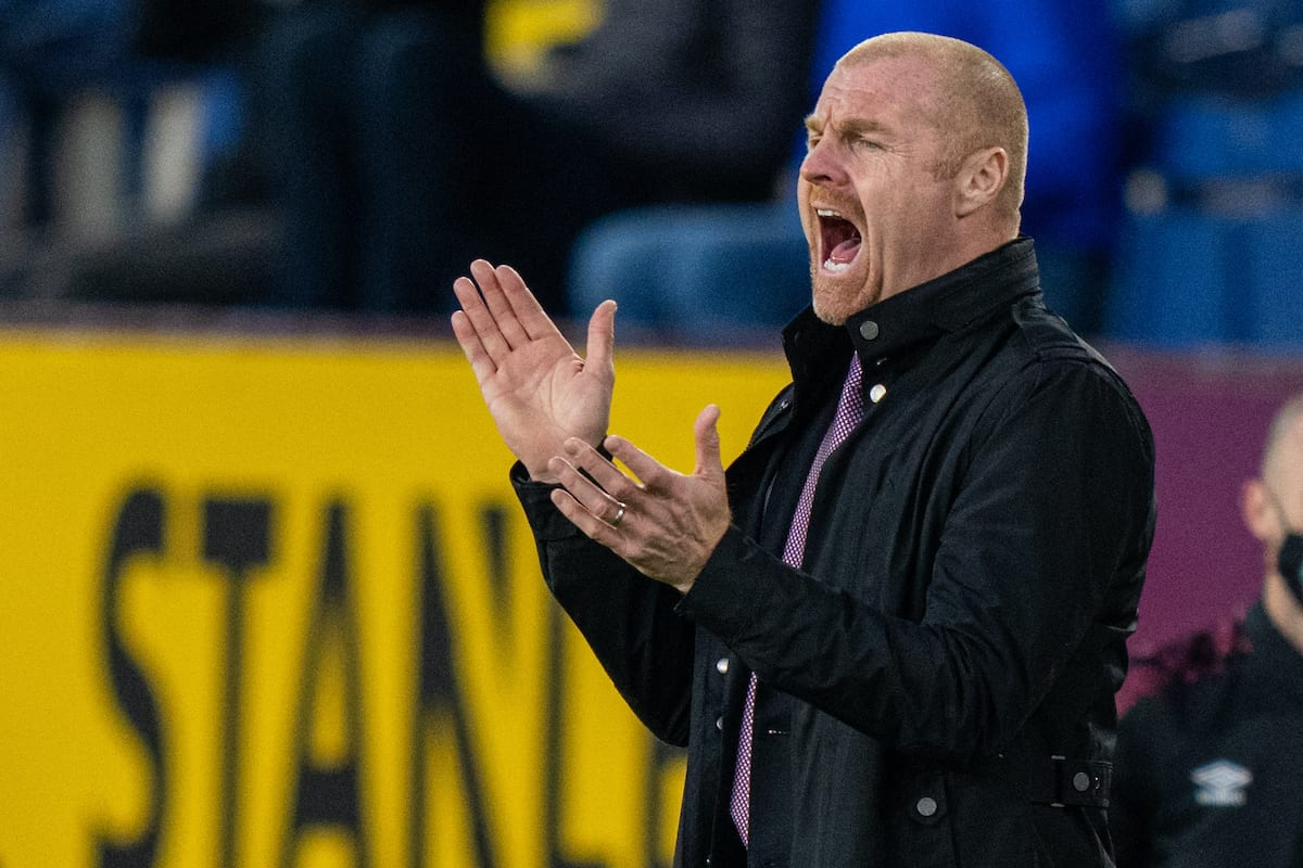 BURNLEY, ENGLAND - Wednesday, May 19, 2021: Burnley's manager Sean Dyche during the FA Premier League match between Burnley FC and Liverpool FC at Turf Moor. Liverpool won 3-0. (Pic by David Rawcliffe/Propaganda)