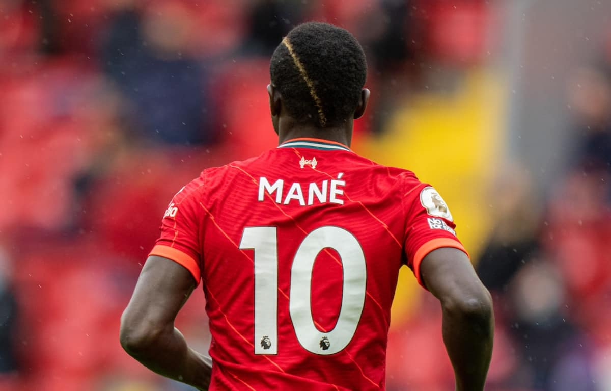 LIVERPOOL, ENGLAND - Sunday, May 23, 2021: Liverpool's Sadio Mané during the final FA Premier League match between Liverpool FC and Crystal Palace FC at Anfield. Liverpool won 2-0 and finished 3rd in the table. (Pic by David Rawcliffe/Propaganda)