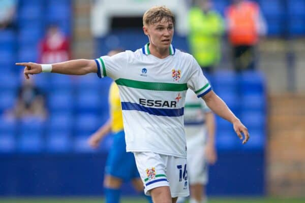 BIRKENHEAD, ENGLAND - Tuesday, July 27, 2021: Tranmere Rovers' Paul Glatzel during a preseason friendly match between Tranmere Rovers FC and Sunderland AFC at Prenton Park. (Pic by David Rawcliffe/Propaganda)