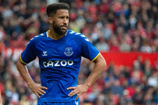 MANCHESTER, ENGLAND - Saturday, August 7, 2021: Everton's Andros Townsend during a pre-season friendly match between Manchester United FC and Everton FC at Old Trafford. (Pic by David Rawcliffe/Propaganda)