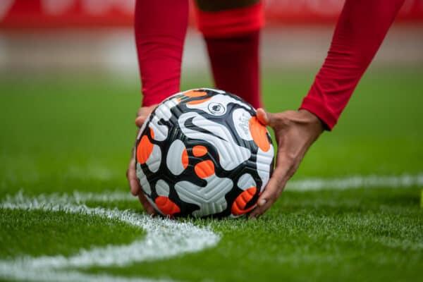 General, match ball, Anfield, corner flag (Pic by David Rawcliffe/Propaganda)