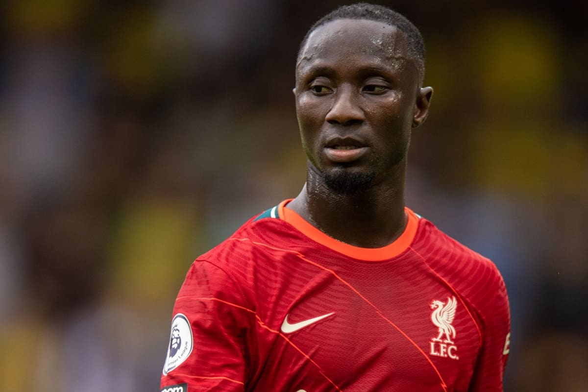 NORWICH, ENGLAND - Saturday, August 14, 2021: Liverpool's Naby Keita during the FA Premier League match between Norwich City FC and Liverpool FC at Carrow Road. (Pic by David Rawcliffe/Propaganda)