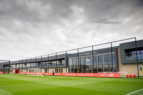 LIVERPOOL, ENGLAND - Tuesday, September 14, 2021: A general view during a training session at the AXA Training Centre ahead of the UEFA Champions League Group B Matchday 1 game between Liverpool FC and AC Milan. (Pic by David Rawcliffe/Propaganda)
