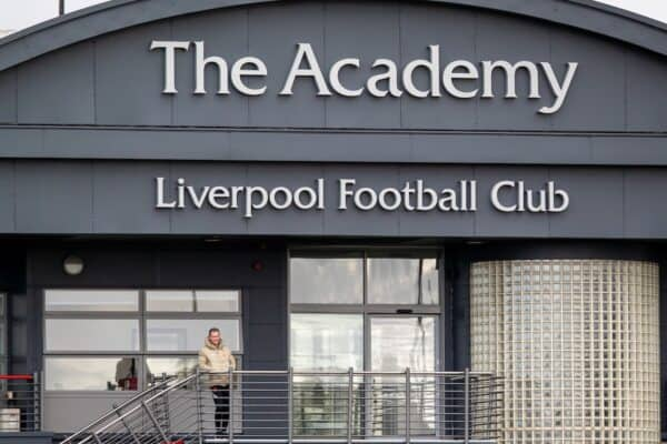 LIVERPOOL, ENGLAND - Sunday, September 19, 2021: Liverpool's Academy Director Alex Inglethorpe during the Premier League 2 Division 1 match between Liverpool FC Under-23's and Leeds United AFC Under-23's at the Liverpool Academy. Leeds United won 4-0. (Pic by David Rawcliffe/Propaganda)