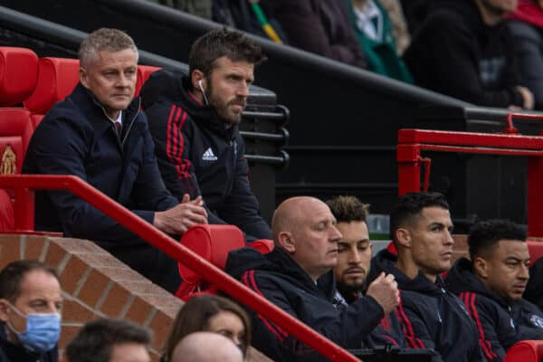 Manchester United's manager Ole Gunnar Solskjær during the FA Premier League match between Manchester United FC and Everton FC at Old Trafford. The game ended in a 1-1 draw. (Pic by David Rawcliffe/Propaganda)