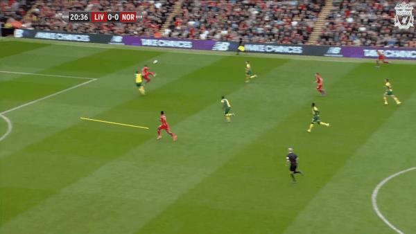 21 mins, Sturridge vs. Norwich - Working better with Benteke