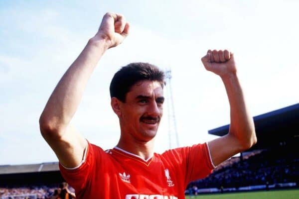 Football – Braclays Division 1 – Chelsea v Liverpool – 9/5/87 Ian Rush during his final game for Liverpool before joining  Juventus  Mandatory Credit: Action Images