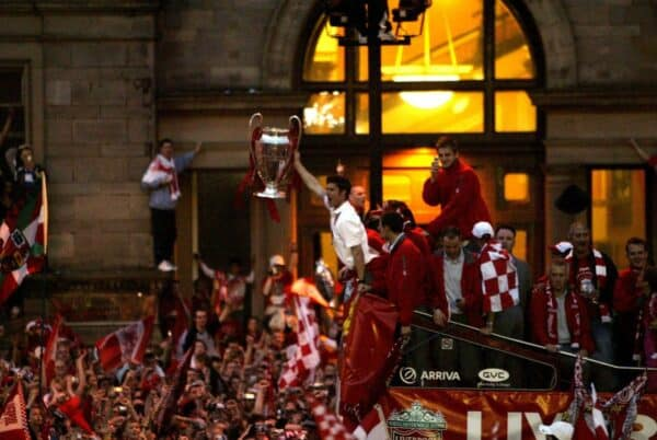 Liverpool trophy parade, 2005, Xabi Alonso (Image: Action Images / Ryan Browne)