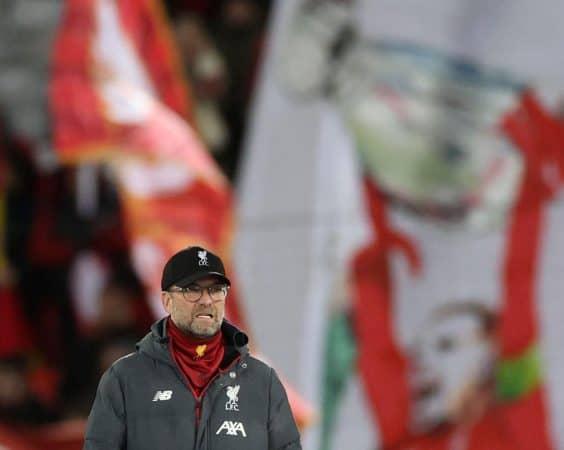 Klopp, Henderson Champions League banner (Action Images via Reuters/Carl Recine)