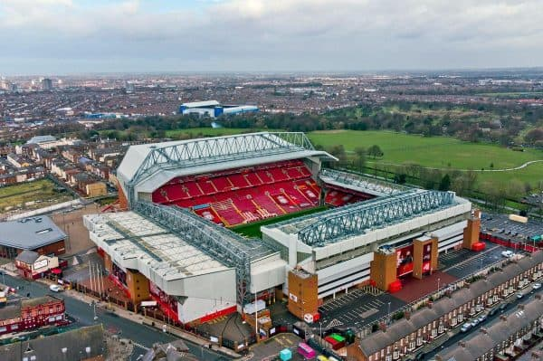 A general, aerial view of Anfield (Goodison Park) (PA Images / Alamy Stock Photo)