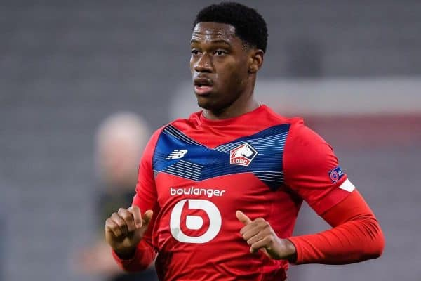 LILLE, FRANCE – FEBRUARY 18: Jonathan David of LOSC Lille during the UEFA Europa League match between Lille OSC and Ajax at Stade Pierre Mauroy on Feb