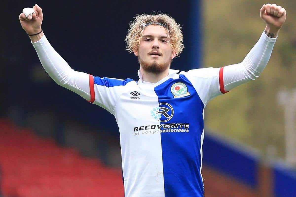 2FMCN27 Ewood Park, Blackburn, Lancashire, UK. 8th May, 2021. English Football League Championship Football, Blackburn Rovers versus Birmingham City; Harvey Elliott of Blackburn Rovers celebrates after scoring to give his side a 4-2 lead after 83 minutes Credit: Action Plus Sports/Alamy Live News