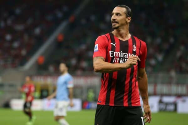 Milan, Italy, 12th September 2021. Zlatan Ibrahimovic of AC Milan reacts during the Serie A match at Giuseppe Meazza, Milan. Picture credit should read: Jonathan Moscrop / Sportimage