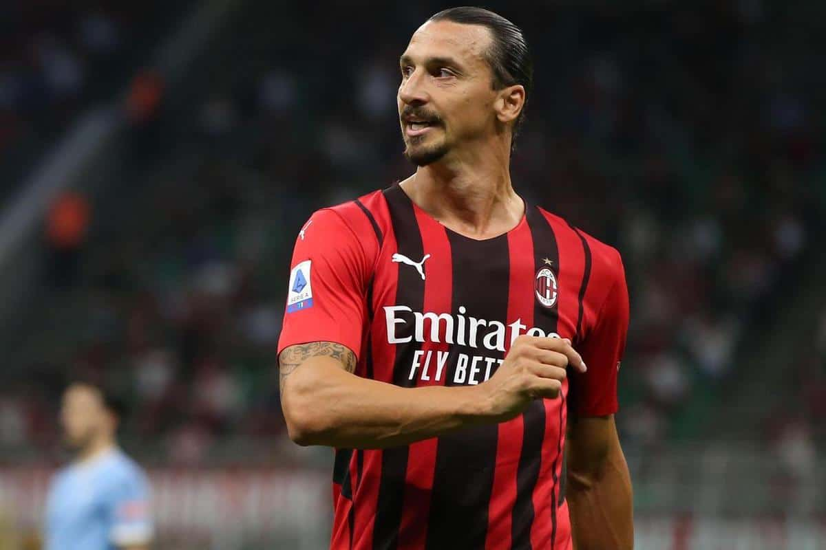 2GK00JX Milan, Italy, 12th September 2021. Zlatan Ibrahimovic of AC Milan reacts during the Serie A match at Giuseppe Meazza, Milan. Picture credit should read: Jonathan Moscrop / Sportimage