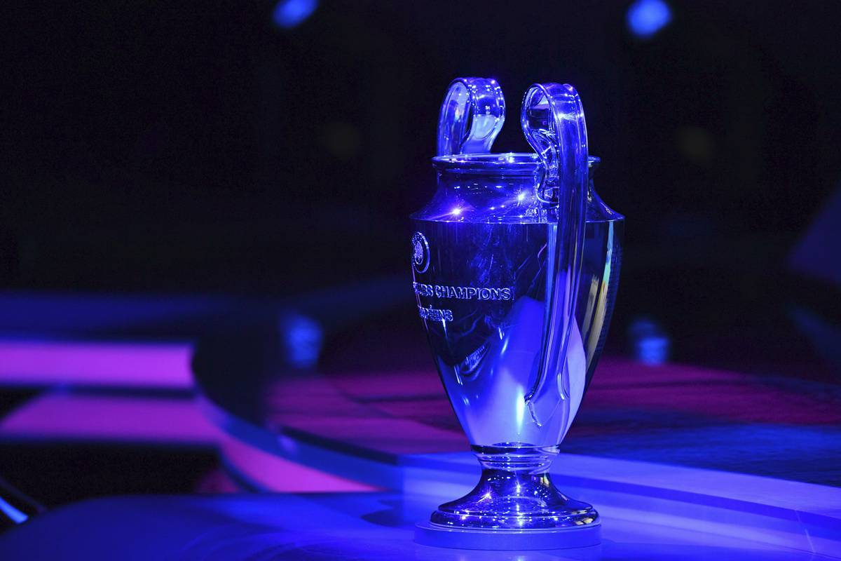 MONACO, MONACO - AUGUST 29: The UEFA Champions League trophy is seen during the UEFA Champions League Draw, part of the UEFA European Club Football Season Kick-Off 2019/2020 at Salle des Princes, Grimaldi Forum on August 29, 2019 in Monaco, Monaco. (Photo by Harold Cunningham - UEFA/UEFA via Getty Images)