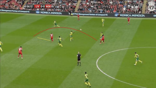 7 mins, Sturridge vs. Norwich - Ball over for Coutinho