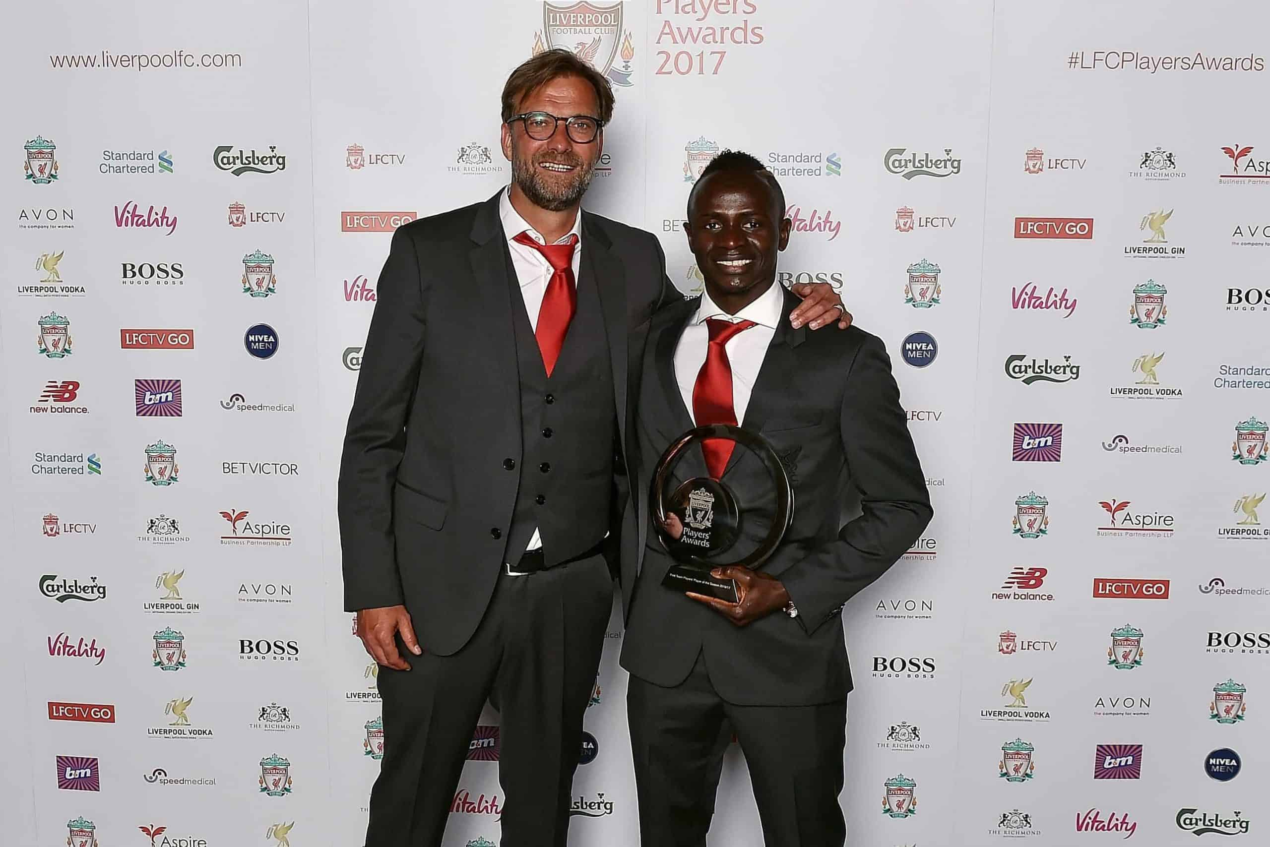 (THE SUN OUT, THE SUN ON SUNDAY OUT) of Liverpool during the Liverpool FC Player Awards at Anfield on May 9, 2017 in Liverpool, England.