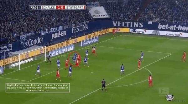 74' - Stuttgart goal, Matip bypassed