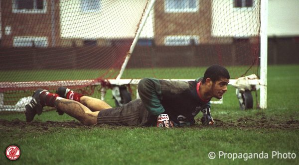 Liverpool's goalkeeper Tony Warner at the club's Melwood Training Ground. (Pic by David Rawcliffe/Propaganda).