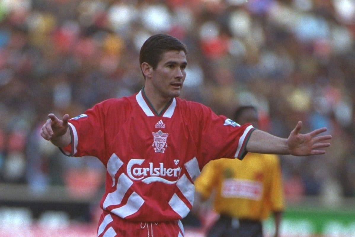 JOHANNESBURG, REPUBLIC OF SOUTH AFRICA - Sunday, May 29, 1994: Liverpool's Nigel Clough during the United Bank Soccer Festival friendly match against the Iwisa Kaizer Chiefs at Ellis Park Stadium. (Pic by David Rawcliffe/Propaganda)