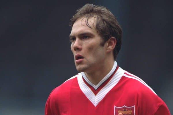 COVENTRY, ENGLAND - Saturday, April 6, 1996: Liverpool's Jason McAteer in action against Coventry City during the Premiership match at Highfield Road. Coventry won 1-0. (Pic by David Rawcliffe/Propaganda)