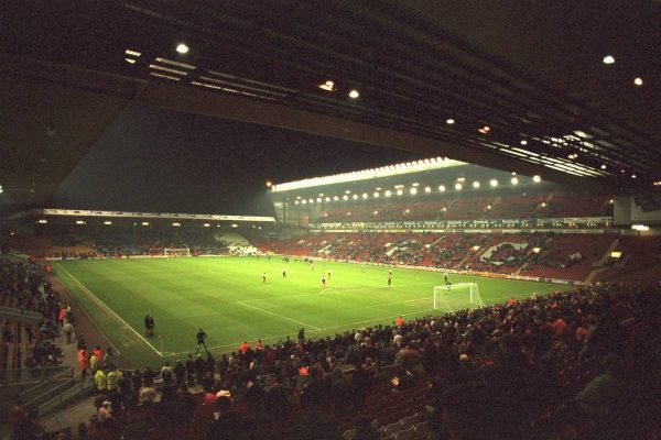 A view of Anfield from the Spion Kop before the 4th Round of the League Cup at Anfield. (Pic by David Rawcliffe/Propaganda)