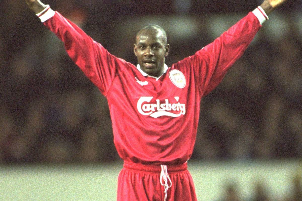 London, England - Monday, December 2, 1996: Liverpool's goal scorer Michael Thomas during the 2-0 Premier League victory over Tottenham Hotspur at White Hart Lane. (Pic by David Rawcliffe/Propaganda)