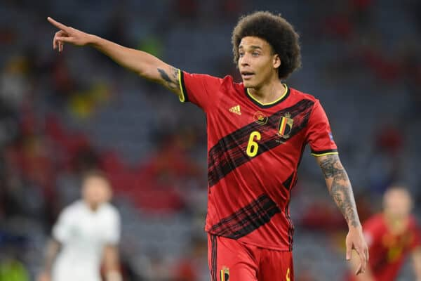 MUNICH, GERMANY - JULY 02: Belgium's Axel Witsel during the UEFA Euro 2020 Championship Quarter-final match between Belgium and Italy at Football Arena Munich on July 02, 2021 in Munich, Germany. (Photo by Sebastian Widmann - UEFA)