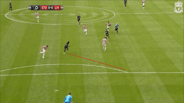 Benteke Movement vs. Stoke