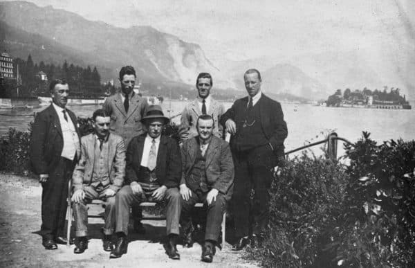 (Please credit within piece: The Bromilow family) Liverpool's pre-season tour of Italy, 1920s