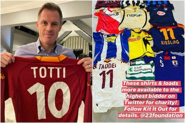 Jamie Carragher generously donates shirt collection for local project Kit It Out