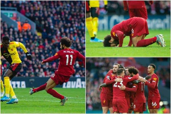 Klopp hugs and Salah's expert finish in photos as Liverpool edge past Watford