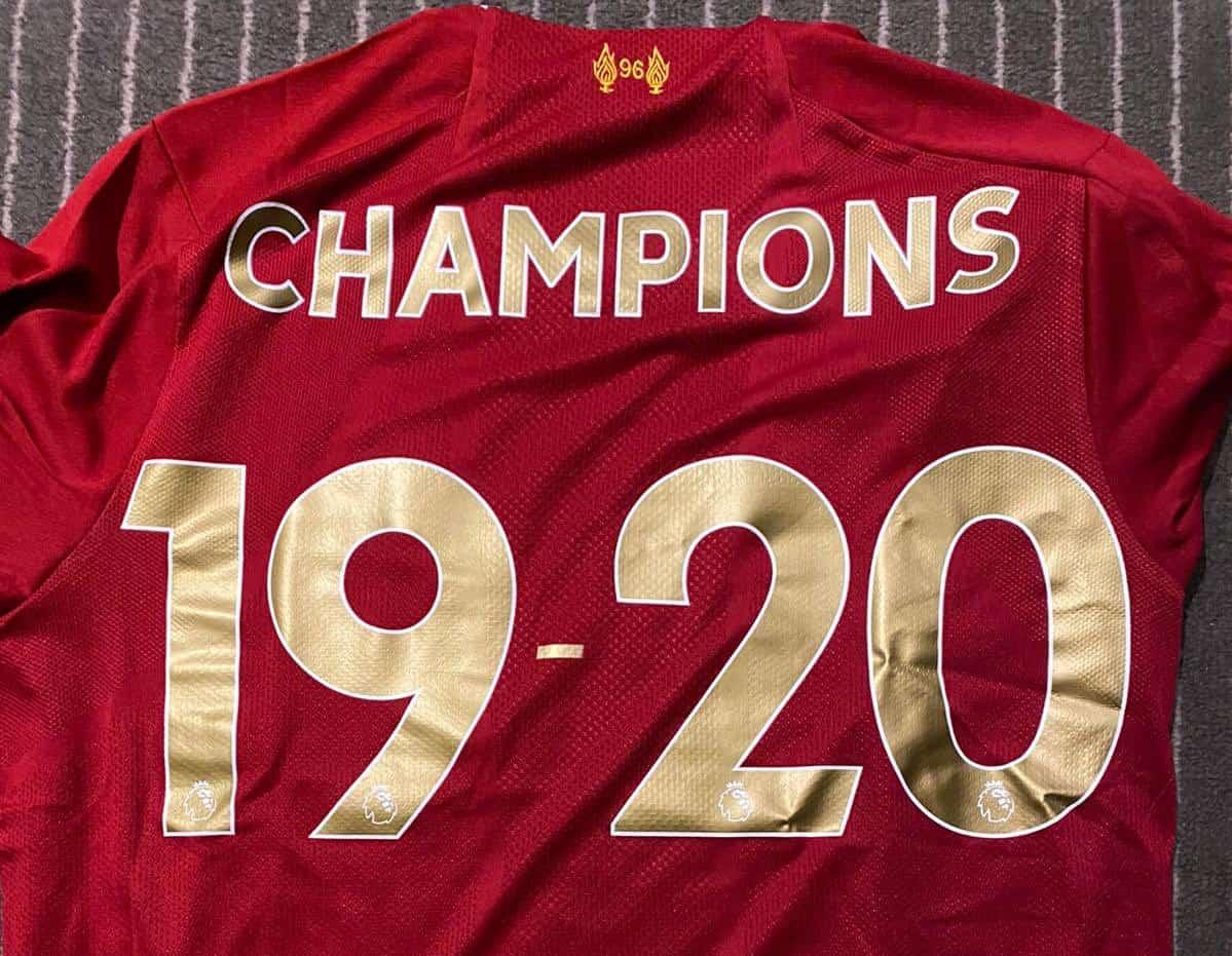 LFC Champions 2020 (Image: James Milner Twitter)