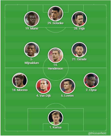 Salah out, Firmino bench, Ings in, Rooney starts