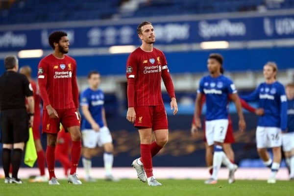 Liverpool's Jordan Henderson and his team-mates had to settle for a point at Everton (PA)