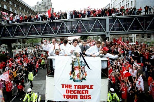 Liverpool Trophy Parade, 2001 (Fowler, The Strand) (Image: PA / Alamy)