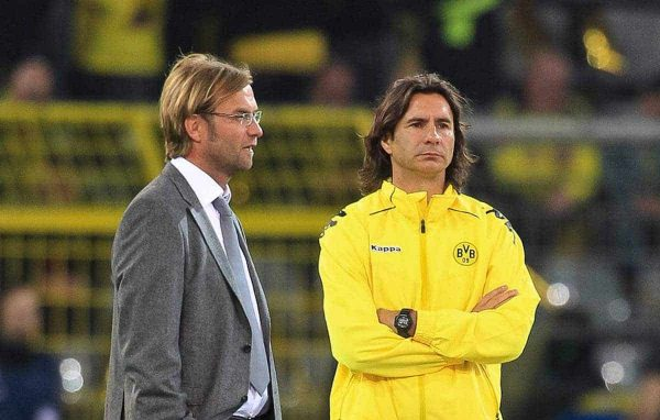 13.09.2011, Signal Iduna Park, Dortmund, GER, UEFA CL, Gruppe F, Borussia Dortmund (GER) vs Arsenal London (ENG), im Bild..J¸rgen Klopp (Trainer Dortmund) (L) und Zeljko Buvac (Co-Trainer Dortmund) (R) ..// during the UEFA CL, group F, Borussia Dortmund (GER) vs Arsenal London on 2011/09/13, at Signal Iduna Park, Dortmund, Germany. EXPA Pictures © 2011, PhotoCredit: EXPA/ nph/ Mueller ****** out of GER / CRO / BEL ******