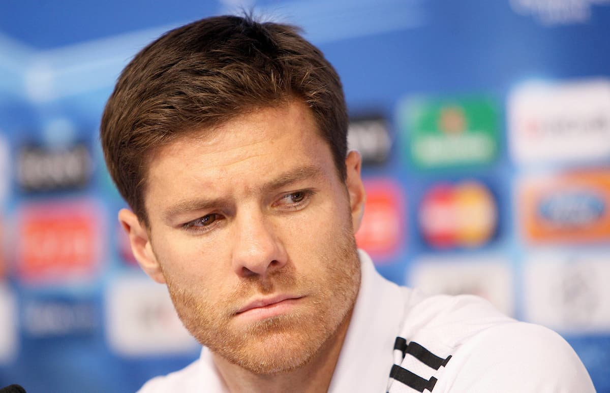 13.09.2011, Zagreb, CRO, UEFA CL, Real Madrid in Zagreb, im Bild Xabi Alonso at a press conference, the day before the Champions League match against Dinamo Zagreb. EXPA Pictures © 2011, PhotoCredit: EXPA/ nph/ Pixsell/ Petar Glebov +++++ ATTENTION - OUT OF GERMANY/(GER), CROATIA/(CRO), BELGIAN/(BEL) +++++
