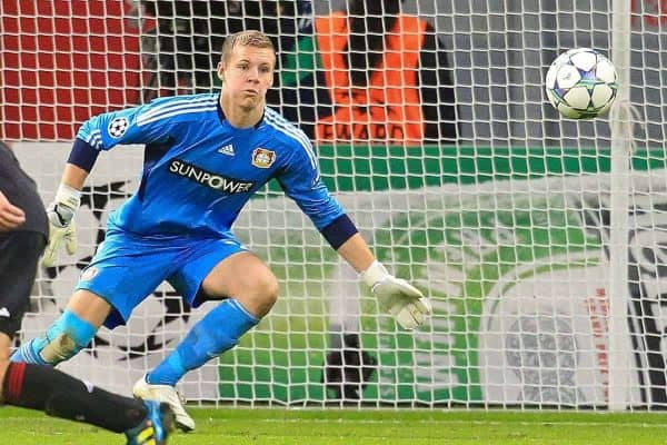 19.10.2011, BayArena, Leverkusen, GER, UEFA CL, Gruppe E, Bayer Leverkusen (GER) vs Valencia CF (ESP), im Bild.Bernd Leno (Torwart Leverkusen/Leihe aus Stuttgart)..// during the UEFA CL, group E, Bayer 04 Leverkusen (GER) vs Valencia CF (ESP) on 2011/10/19, at BayArena, Leverkusen, Germany. EXPA Pictures © 2011, PhotoCredit: EXPA/ nph/ Mueller ****** out of GER / CRO / BEL ******